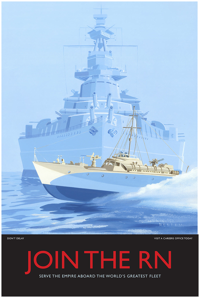 Join the Navy painting/print by Andrew Redden